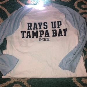 Tampa Bay Rays PINK Qtr Sleeve Tee